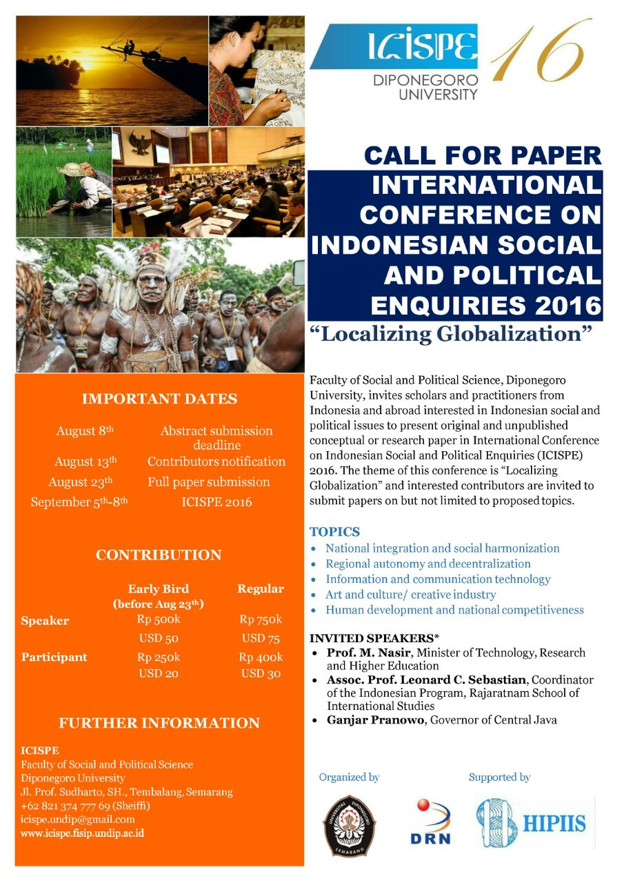 ICISPE 2016 Call for Paper