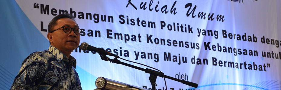 Kuliah Umum Ketua MPR RI: Kesenjangan Musuh Utama Bangsa