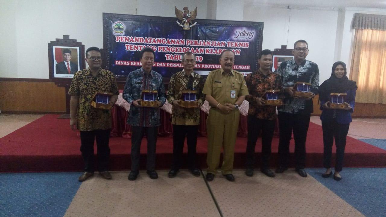 Sekolah Vokasi Undip Tandatangani Perjanjian Teknis dengan Dinas Kearsipan dan Perpustakaan Provinsi Jawa Tengah