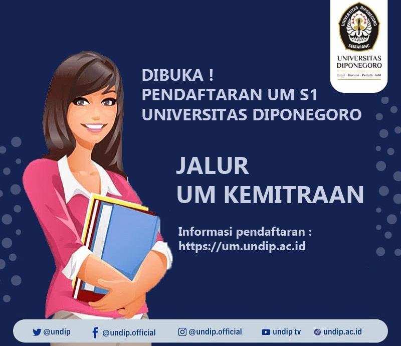 Peluang Kuliah di UNDIP Melalui Jalur UM Kemitraan