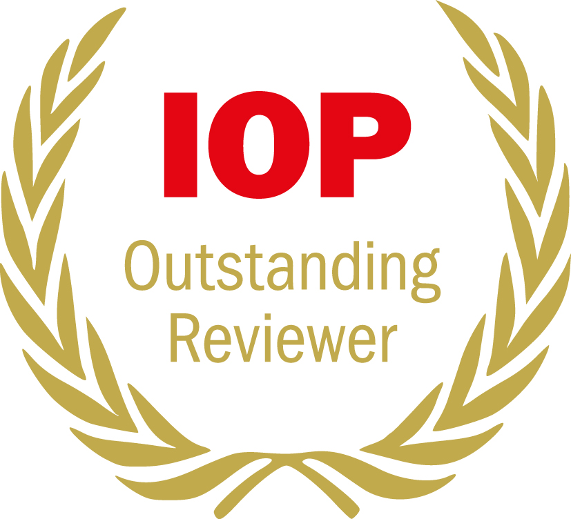 Outstanding Reviewers Award 2019 for Dr. Choirul Anam from the Journal of Biomedical Physics and Engineering Express
