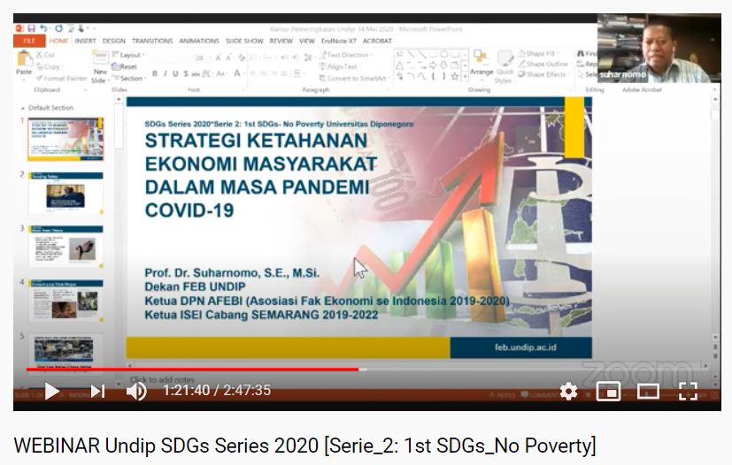WEBINAR Undip SDGs Series 2020 Serie 2: 1st SDGs No Poverty