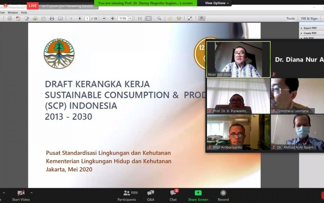 WEBINAR Undip SDGs Series 2020  Serie_3: 12 SDGs_Responsible Consumption and Production