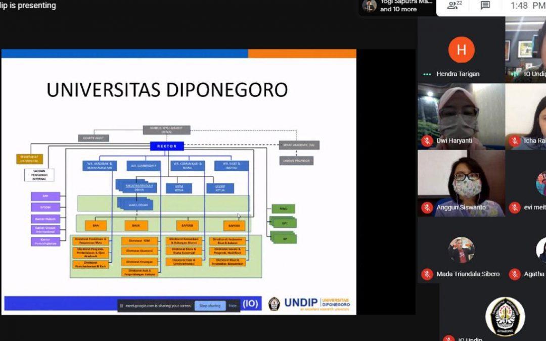 Studi Banding President University ke UNDIP Via Daring