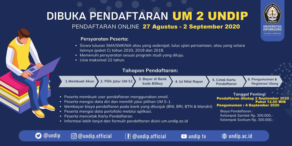 Interest in Studying at UNDIP is Still on the Rise Resulting to UNDIP Opening UM 2