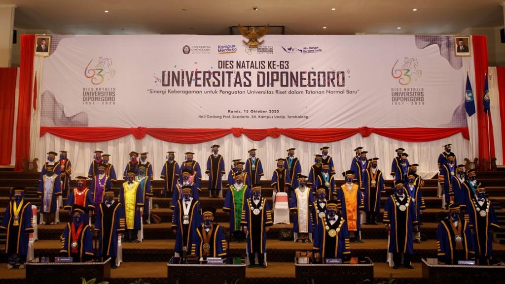 Upacara Dies Natalis Universitas Diponegoro secara Daring dan Luring