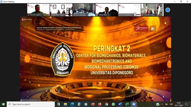 CBIOM3S Promotes Undip at 2020InovasiIndonesia Expo (I2E)