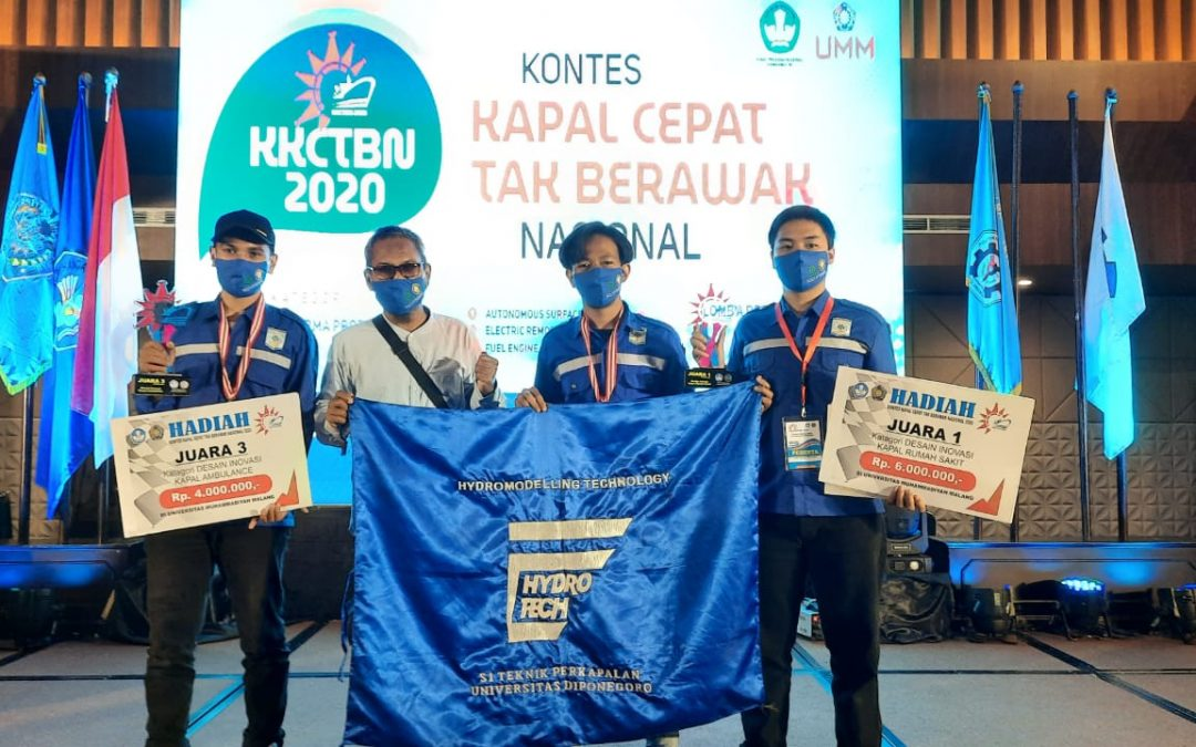 Undip Dominates the 2020 National Unmanned Fast Boat Competition
