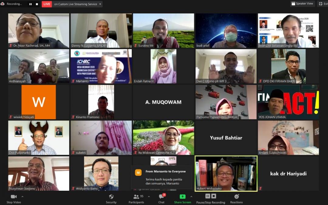 Talkshow Penguatan Jejaring Alumni UNDIP 2020