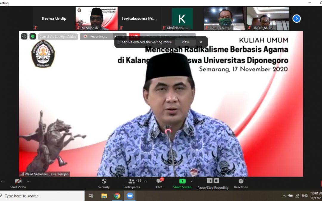 Kuliah umum mencegah Radikalisme berbasis Agama di kalangan Mahasiswa Universitas Diponegoro