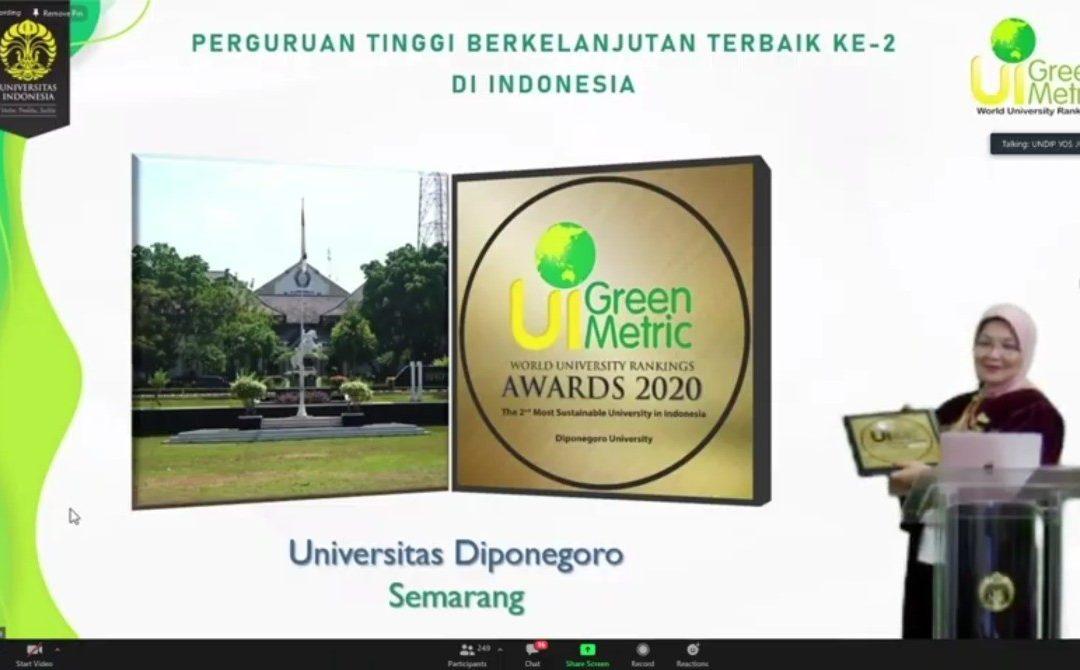 UNDIP Raih Peringkat Ke-2 Terbaik Nasional Sebagai Kampus Berkelanjutan versi UI GreenMetric World University Rankings 2020