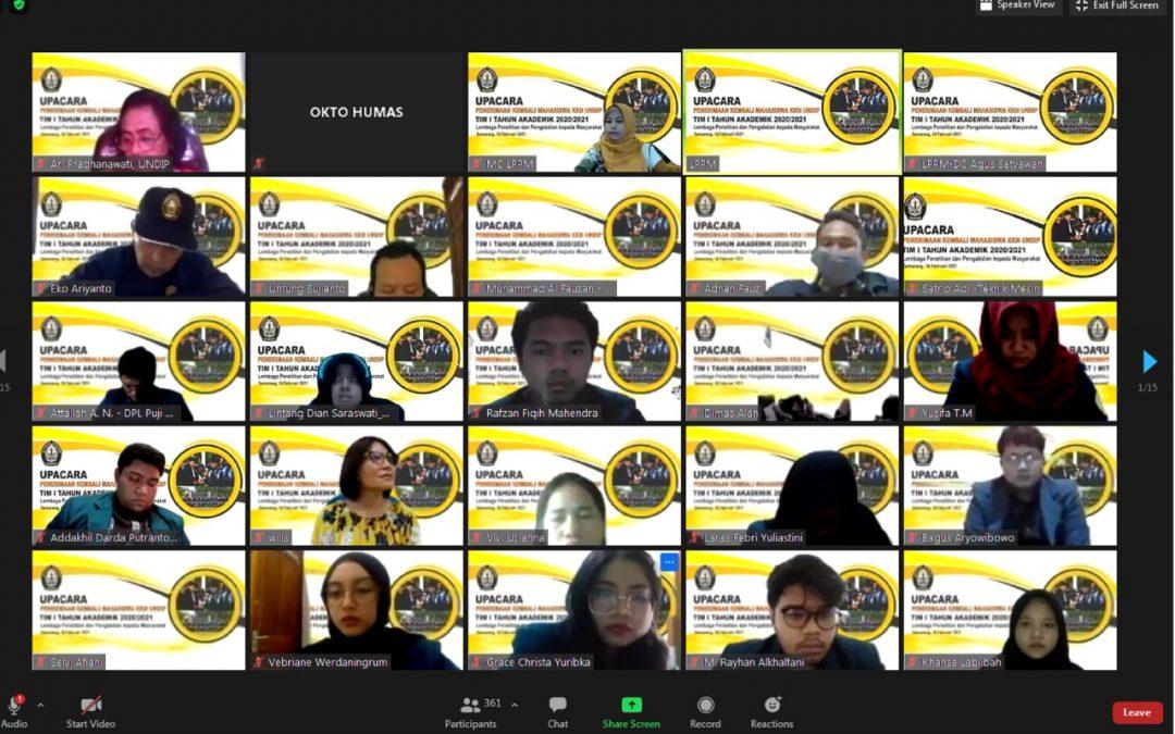 UNDIP Terima Kembali 2.717 Mahasiswa KKN UNDIP Tim I 2021