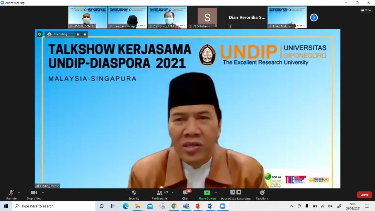 talkshow kerjasama undip-diaspora