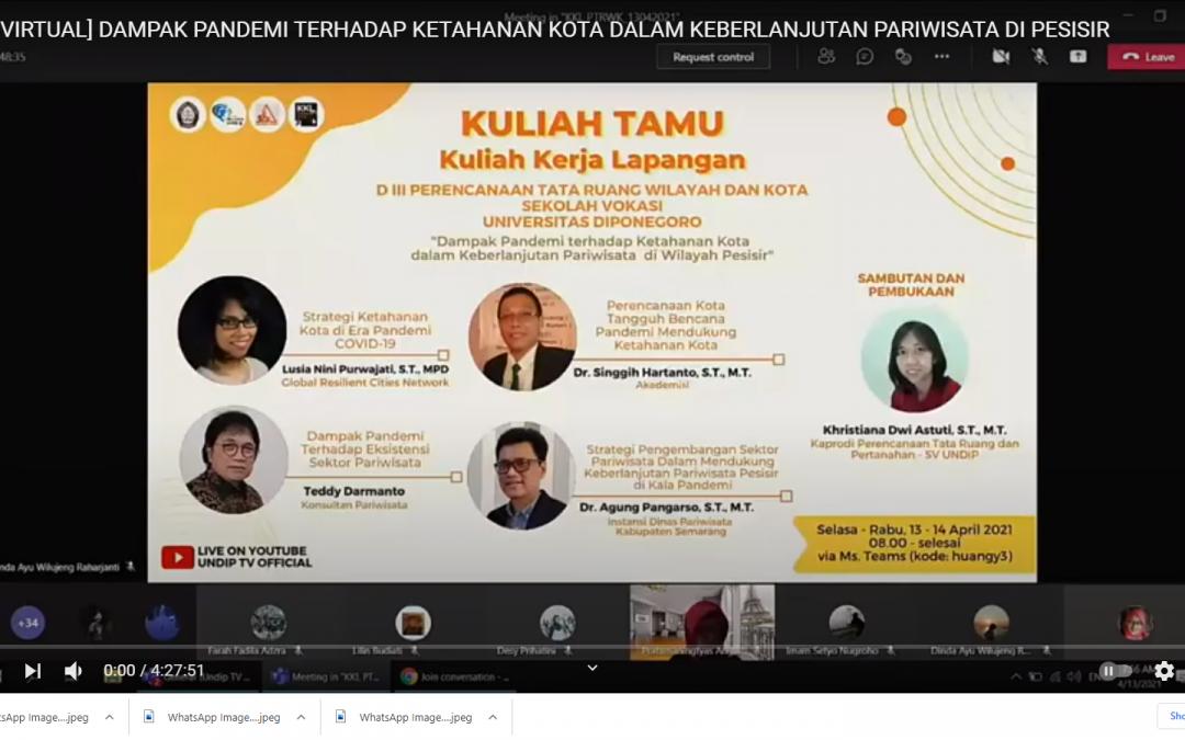 Mahasiwa D3 PWK Sekolah Vokasi UNDIP Lakukan KKL Virtual