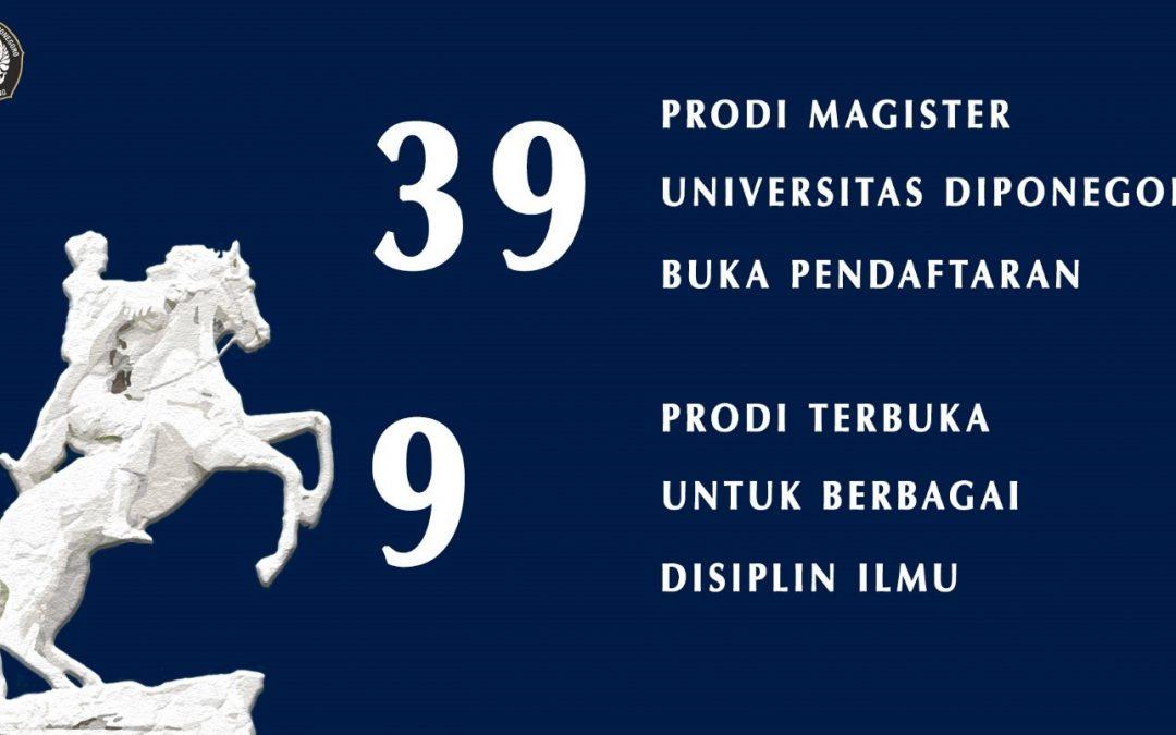 39 Prodi Magister UNDIP Buka Pendaftaran, 9 Prodi Terbuka untuk Berbagai Disiplin Ilmu