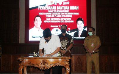 Robot Pelayanan Undip Mulai Tugas di Pemkot Semarang Setelah Dihibahkan