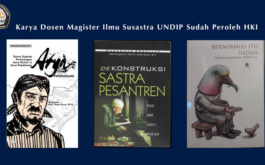 16 Karya Dosen Magister Ilmu Susastra UNDIP Sudah Peroleh HKI
