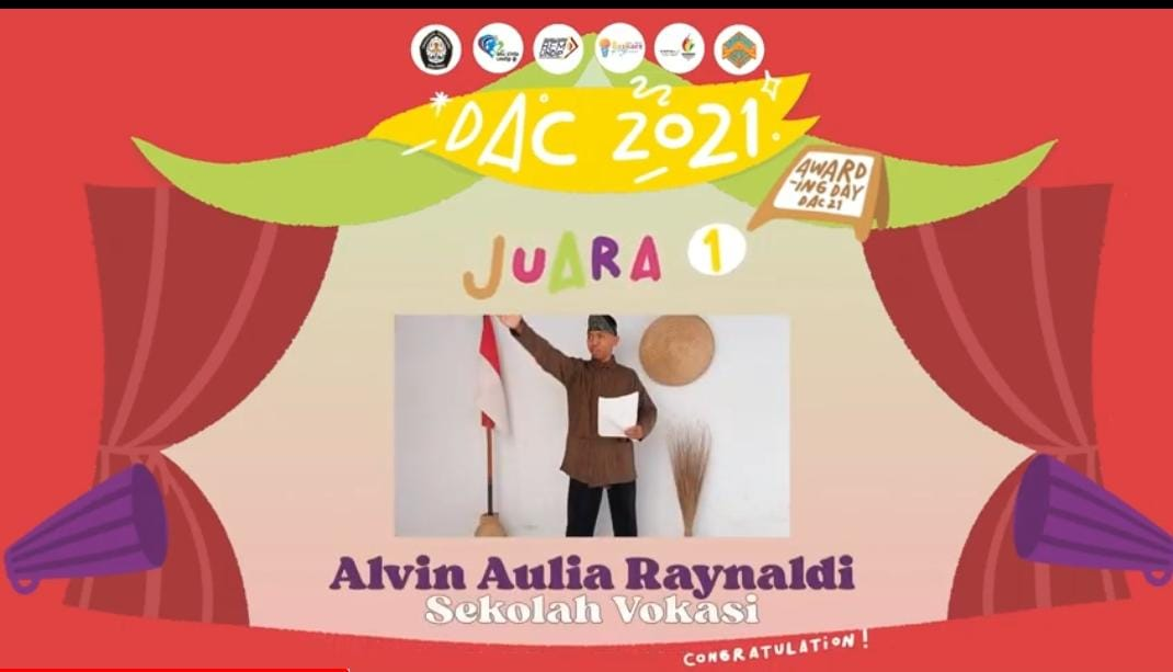Alvin Aulia Raynaldi, Undip Vocational School Student Won the First Place of Poetry Reading Contest in Diponegoro Art Competition 2021