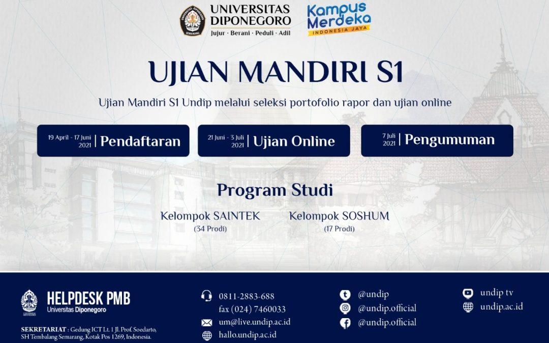 UNDIP Buka Jalur Ujian Mandiri