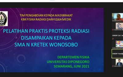 KBK Fisika Radiasi dan Fisika Medik FSM Undip Berikan Pelatihan Praktis Perlindungan Diri Dari Radiasi Kepada Siswa SMA Kretek Wonosobo