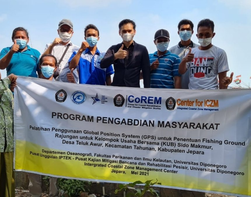 Undip Team Provides Training on GPS Utilization to Fishermen in Order to Increase Crayfish Catches in Teluk Awur Village, Jepara, Central Java