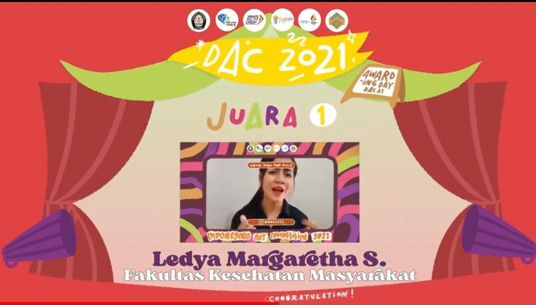 Ledya Margaretha Sihotang (First Winner of Female Pop Song Cover Contest in DAC 2021): The Way to Realize Our Talents is to Develop Them