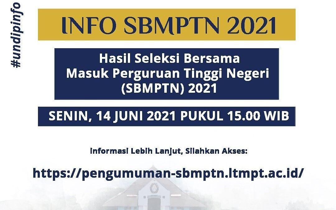 Pengumuman Hasil Seleksi SBMPTN LTMPT Tahun 2021