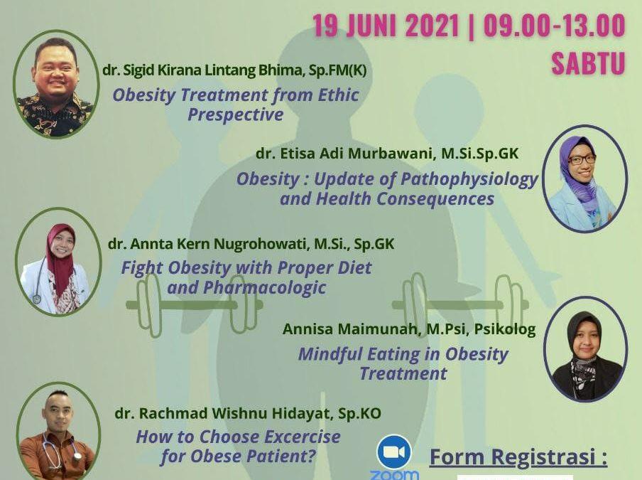 RSND UNDIP Menyelenggarakan Webinar Obesity Update: Comprehensive Treatment
