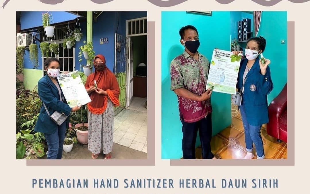 Mahasiswa KKN Undip, Kelurahan Satimpo, Kecamatan Bontang Selatan Ajak Warga Buat Hand Sanitizer Herbal