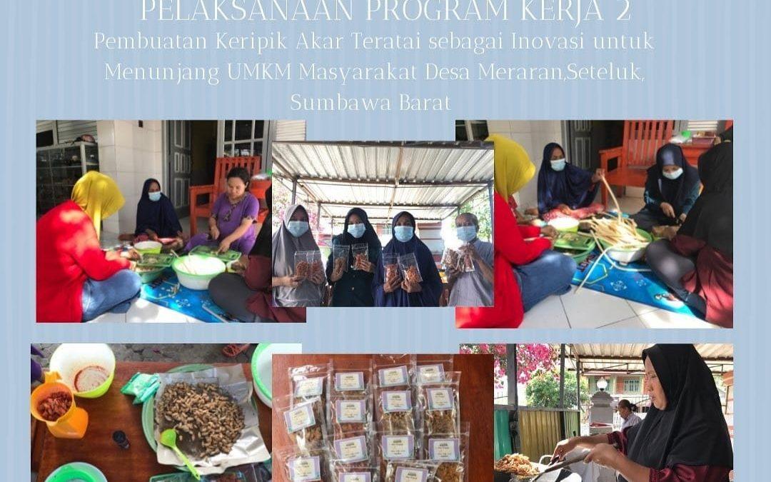 Mahasiswa KKN Undip Desa Meraran, Sumbawa Barat Bantu Warga  Membuat Keripik Akar Teratai