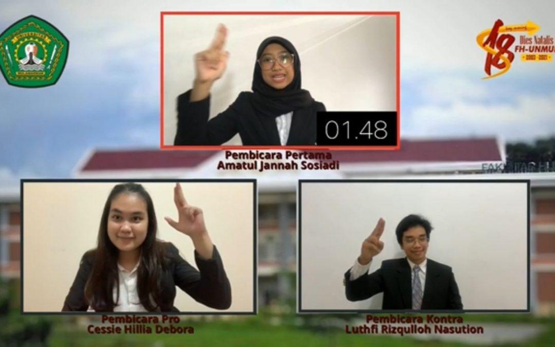 Tim Debat Fakultas Hukum UNDIP Sabet Juara 1 Lomba Debat Nasional 2021