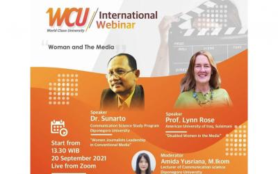 "Departemen Ilmu Komunikasi FISIP UNDIP Gelar International Webinar ""Woman and The Media"""