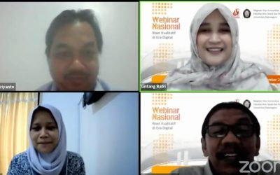 Master of Communication Science of Faculty of Social and Political Sciences UNDIP Held Qualitative Research Webinar in the Digital Age