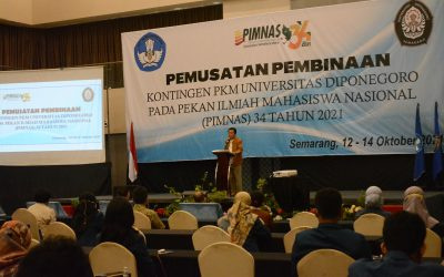 Rektor Undip Kepada 37 Kontingen PIMNAS ke-34 Tahun 2021: Mahkota Tertinggi Prestasi dan Sportifitas