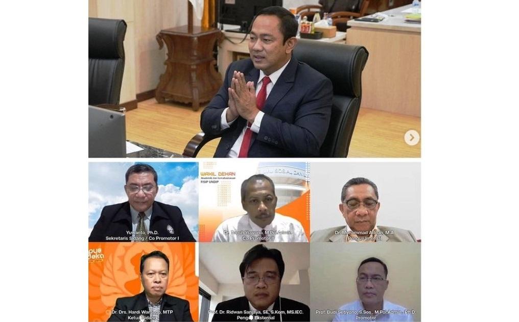 Teliti Tata Kelola Kota Cerdas Semarang, Walikota Hendrar Prihadi Raih Gelar Doktor dari FISIP UNDIP