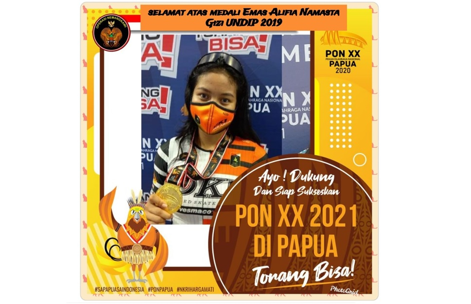 Student of Nutrition Science Study Program of Faculty of Medicine UNDIP Won 3 Gold Medals in Roller Skate Sport at National Sports Week XX Papua 2021